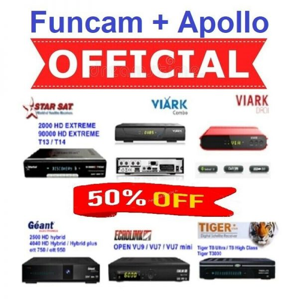 Renew Funcam+Apollo IPTV Server Online