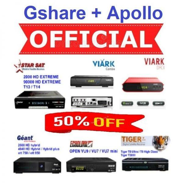 Renew Gshare+Apollo IPTV Server Online
